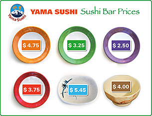 sushi boat prices